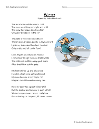 Winter - Reading Comprehension Worksheet