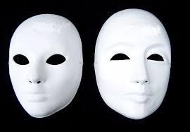 Plastic Masks To Decorate Hand Painting DIY Plain White Masks Women Men Thicken Paper Pulp 56