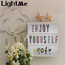 2017 premuim new led combination night light box lamp diy powered cinema lightbox free combination cards