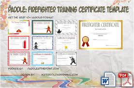 Firefighter Training Certificate Template 10 Updated 2019