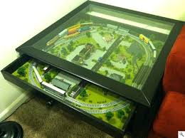 n scale coffee table n scale train set in coffee table n scale coffee table track