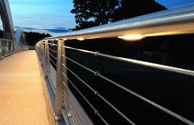 Led Handrail Lights Footfall Lighting Takes Led Handrail To Next Step Lux