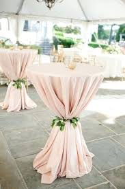 pink cocktail linens with greenery rings box wedding table round decor centerpiece ideas