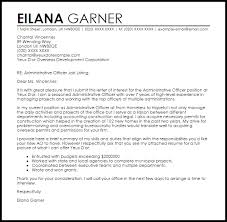 Administrative Officer Cover Letter Sample Cover Letter Templates