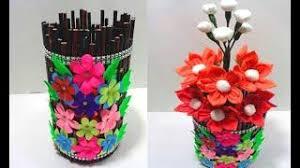 News Paper Flower Vase Diy Best Flower Vase From Paper Beautiful Design Flowers