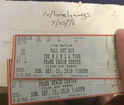 Giving Away 2x Mania Tickets Austin Tx Sept 23rd Falloutboy