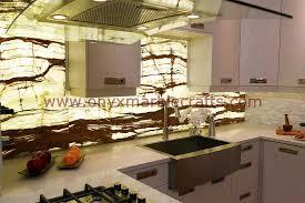 backlit onyx countertops ideas kitchen design white onyx
