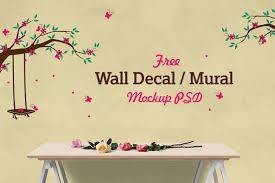 Free Decal Designs Vinyl Wall Decal Sticker Mockup Best Free Mockups