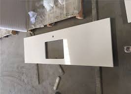 white quartz prefab stone countertops for restaurant single sink bench top