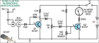 tv relative signal strength meter circuit diagram