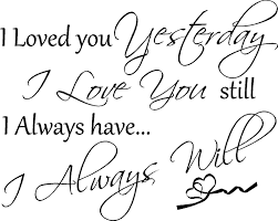 Small Picture Forever and alwaysI will always love you My