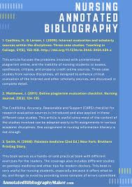 Nursing Annotated Bibliography Writing Expert Assistance