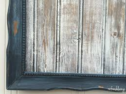 Diy tutorial antiquing wood Weathered Miss Mustard Seed Artissimo And French Enamel Refresh Living Easter Frame With Diy Distressed Wood Tutorial Refresh Living