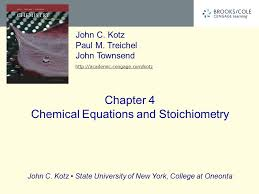 presentation on theme chapter 4 chemical equations and stoichiometry presentation transcript 1 chapter 4 chemical equations and stoichiometry