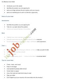 Cover Letter Tips For Writing A Job Application What Is