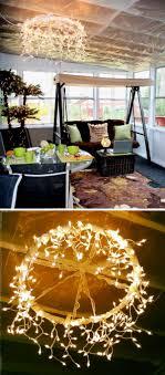 diy outdoor lighting. Hula Hoop Chandelier Diy Outdoor Lighting R