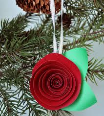 Paper Flower Christmas Tree Paper Flower Christmas Ornaments Under Fontanacountryinn Com