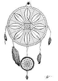coloring-page-adult-dream-catcher-tattoo-by-allan free