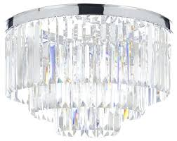crystal flushmount chandelier mini flush mount light fixture chrome and