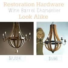 restoration hardware wood chandelier restoration hardware wine barrel look alike restoration hardware wood bead chandelier