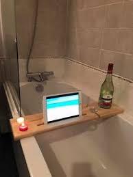 Image is loading Wooden-Bath-Board-Bath-Bridge-Bath-Caddy-Bath-