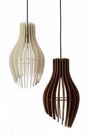 stripes pendant light wood