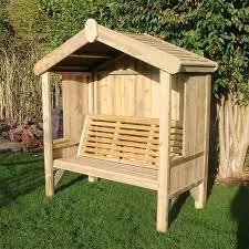 3 seat enclosed cottage arbour bench