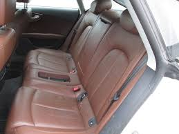 audi a7 interior back seat. rear seat outer headrest nougat brown leather oem audi a7 interior back i