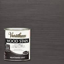 Grey Wash Wood Stain Varathane 1 Qt 3x Weathered Gray Premium Wood Stain Case Of 2