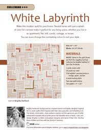 Labyrinth Quilt Pattern Free Classy White Labyrinth Quilt Pattern Download