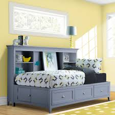 Magnussen Harrison Bedroom Furniture Graylyn Wood Youth Lounge Bed In Steel Drum By Magnussen Home