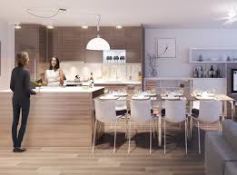 ... Modern Integrated Dining Table With Kitchen Island For Modern Apartment  By || Table ... Pictures Gallery
