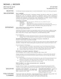 Ideas Of One Page Resume Template with Additional Promo Producer Sample  Resume