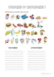 Countable And Uncountable Nouns Worksheet Free Worksheets Library ...