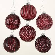 Weihnachtsbaumkugel Glas Bordeaux Rot Nemka 12er Set D 8cm