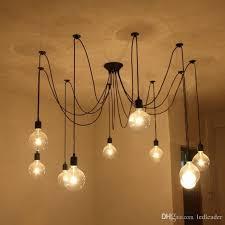 2018 l2 diy pendant lights modern nordic retro hanging lamps edison bulb fixtures spider ceiling lamp fixture light for living room from ledleader