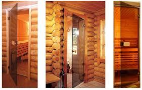 glass doors for a sauna