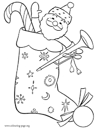 Small Picture Christmas Christmas stocking with gifts coloring page