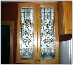 front door inserts beveled glass kitchen cabinet leaded manufacturers stai