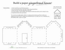 Paper Gingerbread House Worksheet Education Com