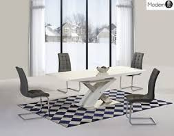 image is loading modern white high gloss extending dining table and