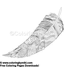 Zen Doodle Feather Coloring Page 691 Coloring By Miki