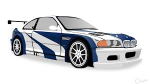 nfs most wanted 2005 bmw m3 gtr vector by dastrontm on
