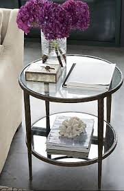 side table decor glass side tables