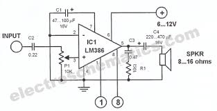 lm386 audio amplifier circuit lm386 audio amplifier circuit schematic