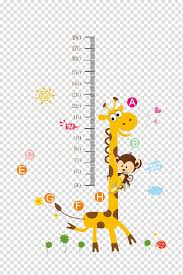 Monkey Growth Chart Wall Giraffe And Monkey Growth Chart Child Wall Decal Nursery