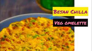 besan ka chilla veg omelette recipe