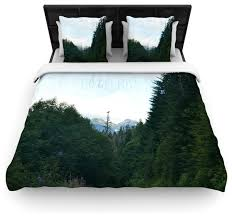 robin inson go get lost forest green duvet cover contemporary duvet covers and duvet sets by kess global inc