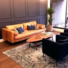 Article Modern Furniture Couch Tan Brown Leather Sofa  Cups And Reviews T15
