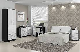 Lynx (Black with Gloss White) Bedroom Furniture Range - Birlea ...